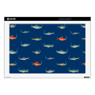 """Fish Pattern Decals For 17"""" Laptops"""