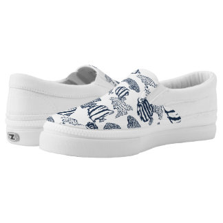 fish pattern Slip-On sneakers