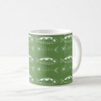 Fish pattern(white) Classic Mug, various colours Coffee Mug