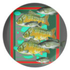 FISH PATTERNS ART MELAMINE PLATE