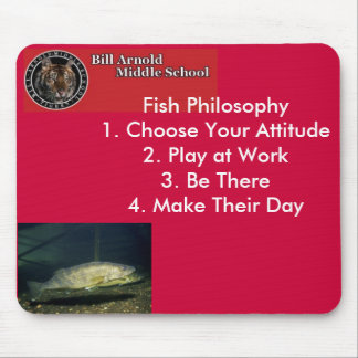 _, Fish Philosophy Mouse Pad