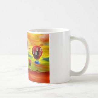 Fish piano surreal classic white coffee mug