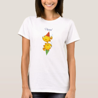 Fish Pisces Party Cartoon Goldfish Gift t-shirt