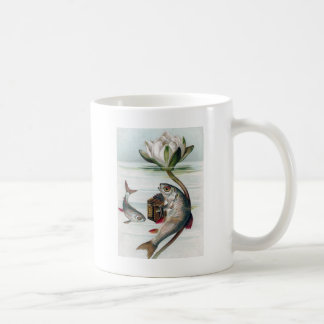 Fish Playing Accordion and Water Lily Coffee Mugs