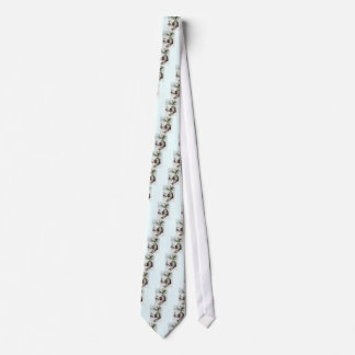 Fish Playing Accordion and Water Lily Neck Tie