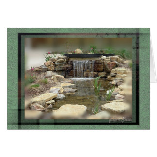 Fish Pond card- any ocassion Card
