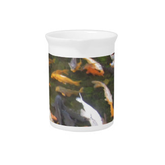fish pond drink pitcher