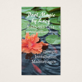 Fish Pond & Fountains business card2- customize Business Card