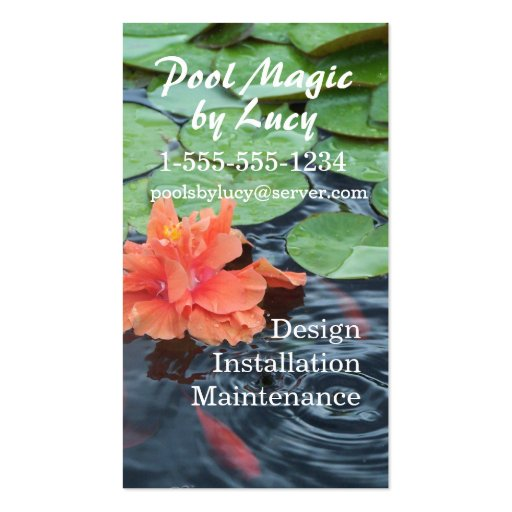 Fish Pond & Fountains business card- customize