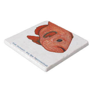Fish Portrait: Big Eye Squirrelfish Stone Trivet