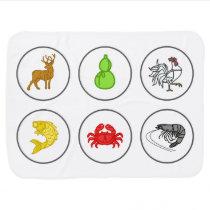Fish Prawn Crab Blanket Game Board