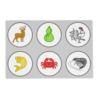 Fish Prawn Crab Vietnamese Dice Game Betting Mat