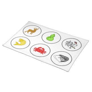 Fish Prawn Crab Vietnamese Dice Game Betting Mat