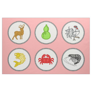 Fish Prawn Crab / Vietnamese Dice - Game Mat Fabric