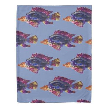 Beach Themed Fish print duvet cover