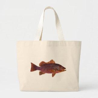 Fish - Purple Sea Perch - Lutjanus superbus Canvas Bags