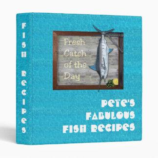 Fish Recipes Vinyl Binders