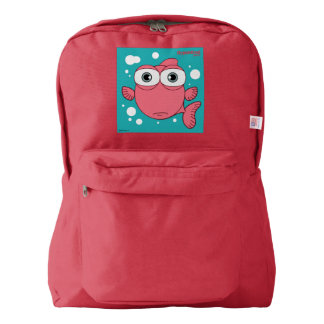 Fish(Red) Backpack, Red Backpack