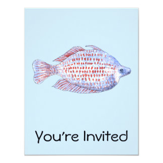 Fish. Red Line Rainbowfish. Card