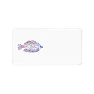 Fish. Red Line Rainbowfish. Label
