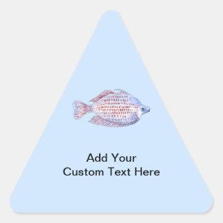 Fish. Red Line Rainbowfish. Sticker