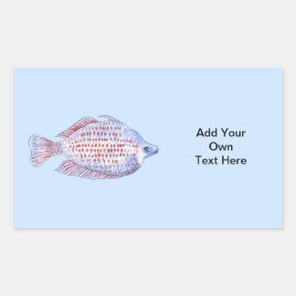 Fish. Red Line Rainbowfish. Stickers