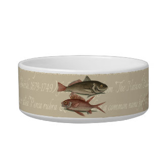 fish red perch Vintage fisherman gift Bowl