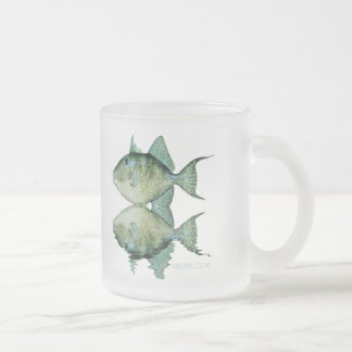 Fish Reflections by FishTs Frosted Glass Coffee Mug
