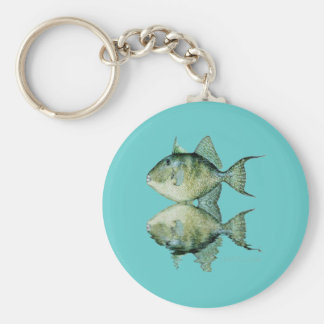 Fish Reflections by FishTs Keychain