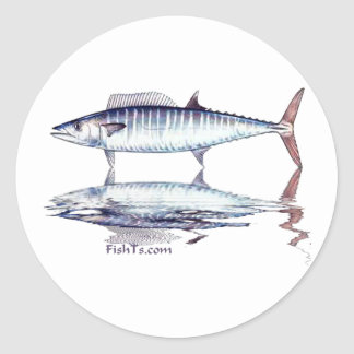 Fish Reflections Collection of Fish Shirts Classic Round Sticker