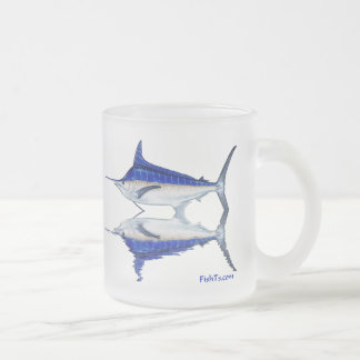 fish reflections customs by fishts.com frosted glass coffee mug