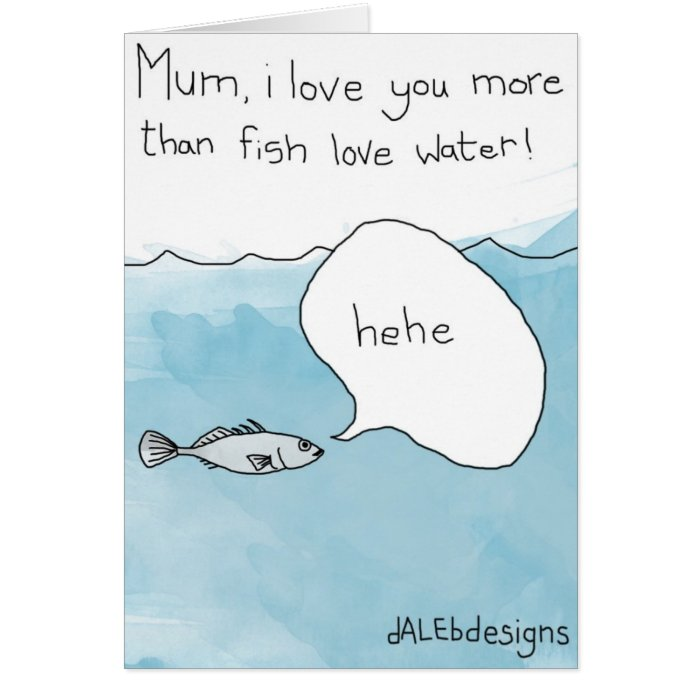 Fish related happy mothers day card zazzle for Is tomorrow a good day to go fishing