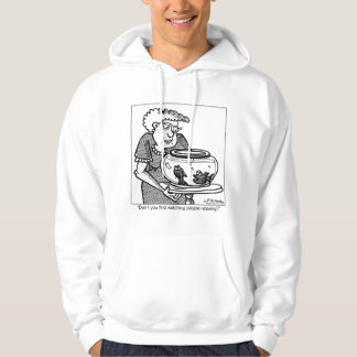 Fish Relaxes by Watching People Hoodie