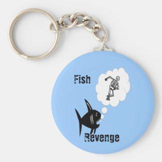 Fish Revenge Basic Round Button Keychain