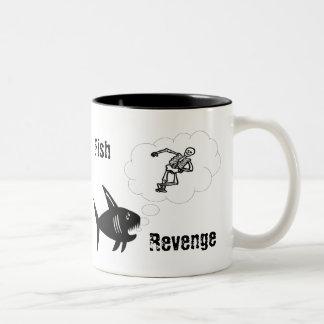 Fish Revenge Two-Tone Coffee Mug