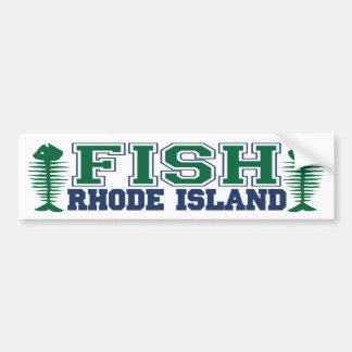 Fish Rhode Island Bumper Sticker