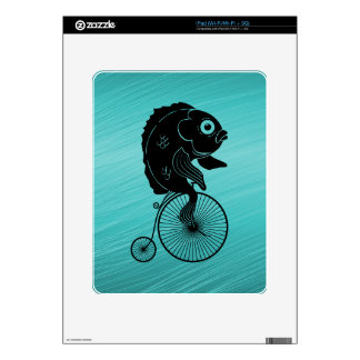 Fish Riding a Bike Decal For The iPad