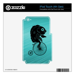 Fish Riding a Bike iPod Touch 4G Decals