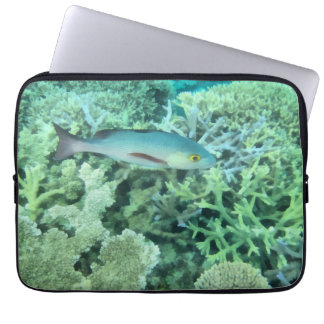Fish roaming the reef computer sleeve