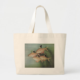 Fish - Rosy Tetra - Hyphessobrycon rosaceus Large Tote Bag