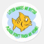fish round sticker