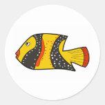 Fish Round Stickers