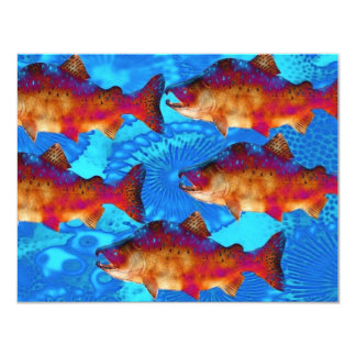 FISH SALMON 4.25X5.5 PAPER INVITATION CARD