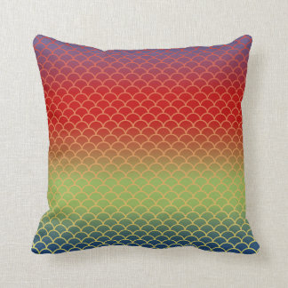 Fish Scale Pattern Rainbow Gradient Pillow (PYGB)
