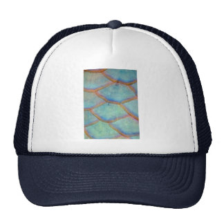 Fish scales from the queen parrotfish trucker hat