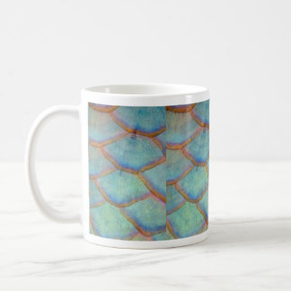 Fish scales from the queen parrotfish coffee mug