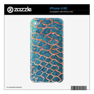 """""""Fish Scales"""" iPhone 4S Decal"""