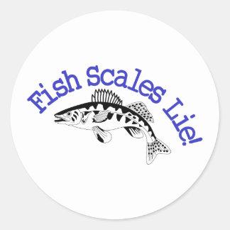 Fish Scales Lie Classic Round Sticker
