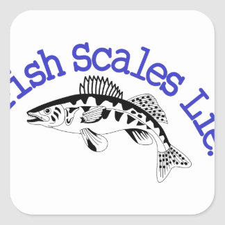 Fish Scales Lie Square Sticker