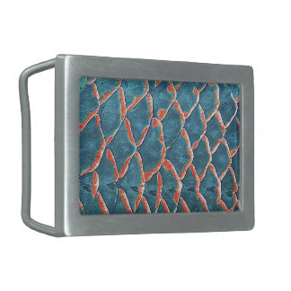 Fish Scales Rectangular Belt Buckle